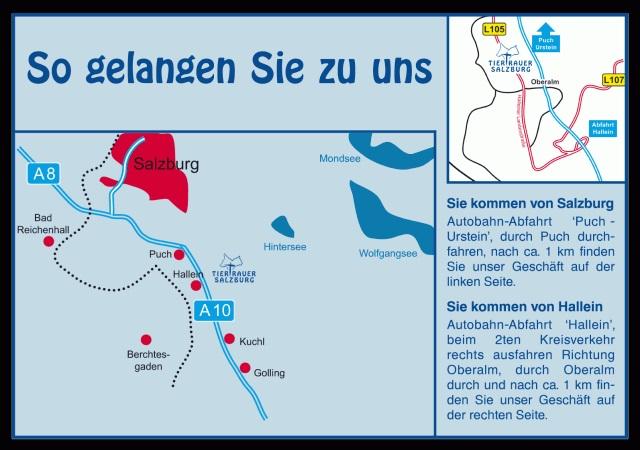 So gelangen Sie zu uns Tiertrauer Salzburg tiertrauer-salzburg.at